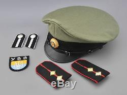 Ww2 Pare-soleil De Officier Volontaire Ukraine De L'armée Fantoche Allemand (ybb) Ensemble
