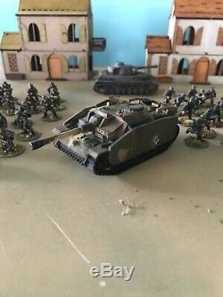 Ww2 Verrou Seconde Guerre Mondiale 28mm Painted Starter Armée Allemande Terrain Et Réservoirs