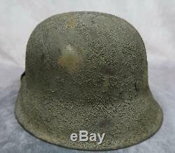 Ww2 Wehrmacht Heer Casque De Combat Camo Camouflage Us Normandie Soldat De L'armée