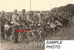 Ww2 Wwii Armée Allemande Wehrmacht Wh Heer Truppenfahrrad Vélo Pneus Pompe À Air