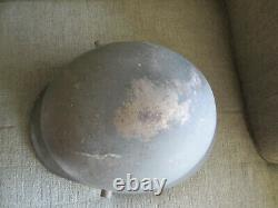 Wwi Transition To Wwii Original German Army Combat Helmet & Liner & Chin Strap