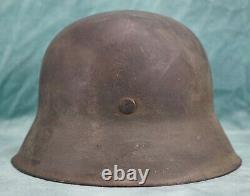 Wwii Allemand Heer M42 Casque De Combat Soldat Wehrmacht Stahlhelm Army Vet Domaine