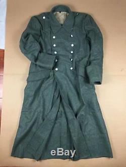 Wwii Armée Allemande Elite M40 Champ Vert Gris Laine Greatcoat Manteau Pardessus Taille XL