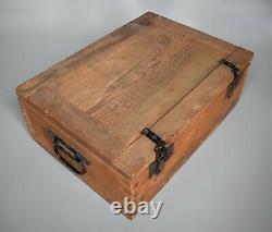 Wwii German Wooden Box Patronenkasten Équipement D'origine Ww2 Mg Mauser 1945