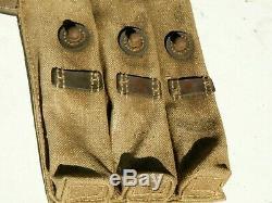 Wwii Originale Magazin Pochette En Cuir Toile Ww2 Waa 727 Code De L'armée Allemande 1943 Dkk