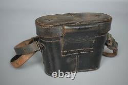 Wwii Pré-guerre Allemand 6x30 Dienstglas Cas Binoculaire Busch 1937 + Bracelet Original