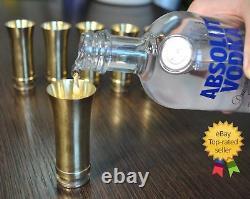 Wwii Set 6 Laiton Lunettes De Vue Prise De Vue En Verre Allemand Vintage Barware Art Militaire Armée Ww2