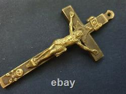 Wwii Ww2 Armée Allemande Wehrmacht Officier Pectoral Cross Pendentif Crucifix (no. R2)