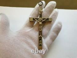 Wwii Ww2 Armée Allemande Wehrmacht Officier Pectoral Cross Pendentif Crucifix (no. T4)