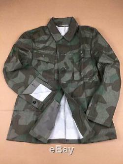 Wwii Ww2 Armée Allemande Wh M43 Splinter Camo Champ Tunique Et Pantalon Set, Taille L