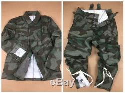 Wwii Ww2 Armée Allemande Wh M43 Splinter Camo Champ Tunique Et Pantalon Set, Taille XXL